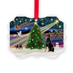 XmasMagic/Dobie (1) Picture Ornament