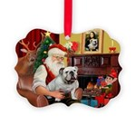 Santa's white EBD Picture Ornament