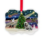 Xmas Magic & Bulldog Picture Ornament