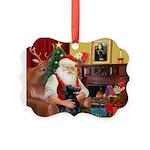 Santa's Flat Coat R Picture Ornament
