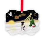 Night Flight/Fox Terrier Picture Ornament