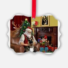Santa's G-Shepherd (#2) Ornament