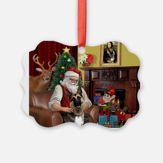 Santa's G-Shepherd (#2) Ornament