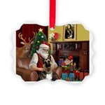 Santa's G-Shepherd (#2) Picture Ornament