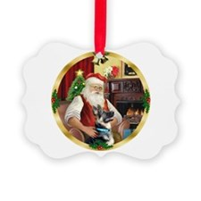 Santa's German Shepherd Ornament