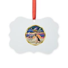 XmasStar/ German Shepherd Ornament