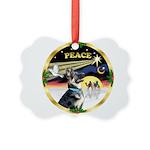 XmasDove/ German Shepherd Picture Ornament