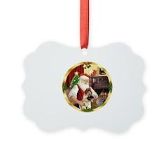 Santa's German Shepherd Ornament