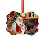 Santa's Great Dane (H) Picture Ornament