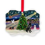 XmasMagic/Black Dane Picture Ornament