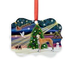 XmasMagic/Greyhound Ornament