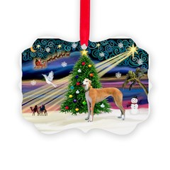 XmasMagic/Greyhound Ornament