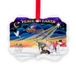 XmasSunrise/4 Ital Greyhounds Picture Ornament