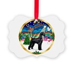 XmasMusic 2MC/Lab Pup (blk) Picture Ornament