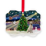 Xmas Magic & Yelow Lab Picture Ornament