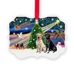 XmasMagic/ 2 Labs (Y&B) Picture Ornament