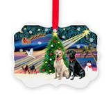 Black lab Picture Frame Ornaments