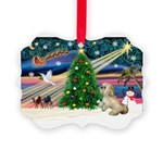 XmasMagic/ Lhasa Apso Picture Ornament