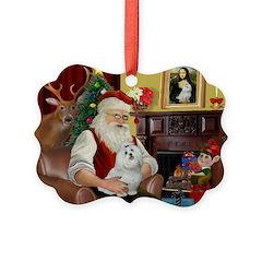 Santa's Maltese Ornament
