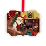 Santa's Newfoundland Picture Ornament