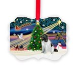 Xmas Magic & Newfie Picture Ornament
