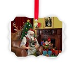 Santa's Norwegian Elk Picture Ornament