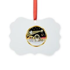 Wisemen/Pekingese Ornament