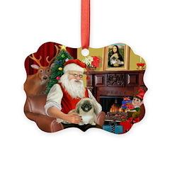 Santa's Pekingese Ornament