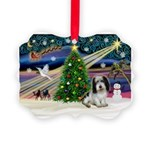Xmas Magic/PBGV (#1) Picture Ornament