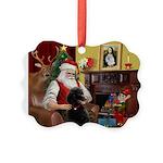Santa's Poodle (ST-B4) Picture Ornament