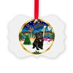 Xmas Musc 3/Cavalier Picture Ornament