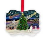 XmasMagic/Rat Terrier Picture Ornament