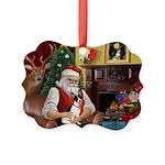 Santa's Rat Terrier Picture Ornament