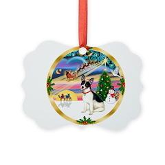 XmasMagic/Rat Terrier Ornament