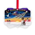 XmasSunrise/St Bernard Picture Ornament
