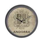 Vintage Andorra Coat Of Arms Wall Clock