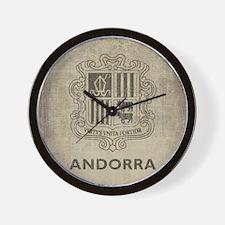 Vintage Andorra Coat Of Arms Wall Clock