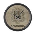 Vintage Andorra Coat Of Arms Large Wall Clock