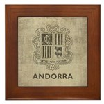 Vintage Andorra Coat Of Arms Framed Tile