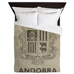 Vintage Andorra Coat Of Arms Queen Duvet