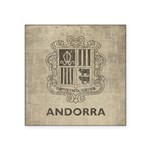 Vintage Andorra Coat Of Arms Square Sticker 3