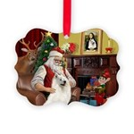 Santa's Samoyed Picture Ornament