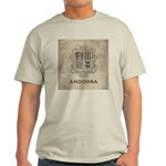 Vintage Andorra Coat Of Arms Light T-Shirt