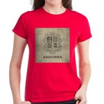 Vintage Andorra Coat Of Arms Women's Dark T-Shirt