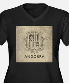 Vintage Andorra Coat Of Arms Women's Plus Size V-N