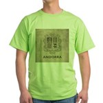 Vintage Andorra Coat Of Arms Green T-Shirt