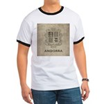 Vintage Andorra Coat Of Arms Ringer T