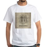 Vintage Andorra Coat Of Arms White T-Shirt