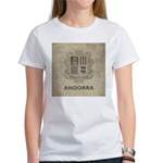 Vintage Andorra Coat Of Arms Women's T-Shirt