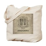 Vintage Andorra Coat Of Arms Tote Bag